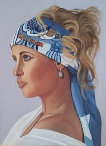 ragazza con foulard - ragazza con l'orecchino di perla